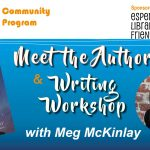 images of Meg McKinlay and book Catch a Falling Start