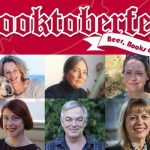 Collage of headshots of authors involved with Booktoberfest