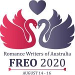 RWA Freo 2020 logo consisting of two swans facing each other with a heart above their heads