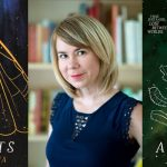 Images: book cover of Hive, author AJ Betts and book cover of Rogue
