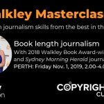 Image of journalist Helen Pitt, Copyright Agency and The Walkley Foundation logos
