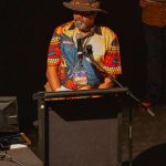 Maitland Hill giving Welcome to Country at Quantum Words Perth Festival
