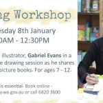 Artist Gabriel Evans and information about his Albany workshop