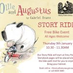 Cover of Ollie and Augustus with details about the Story Ride with Gabriel Evans