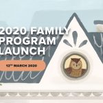 "Illustration of an owl in the attic of a house with the words ""2020 Family Program Launch 12th March 2020""."