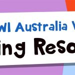 Colourful banner which reads SCBWI Australia West Learning Resources