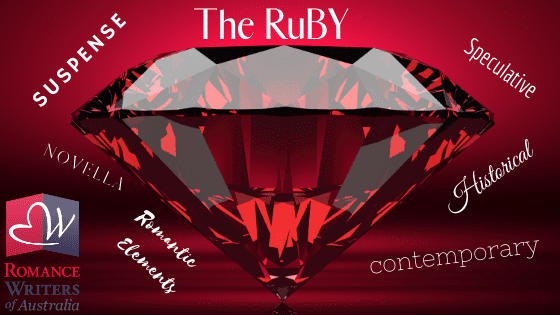 The image is of a large ruby with the words The Ruby written above it.