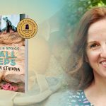 Images are the book cover of Small Steps and an headshot of the author, Julie Sprigg.