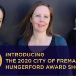 Image is of the three shortlisted writers of the 2020 City of Fremantle Hungerford Award