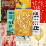 Image description: a collage of coloured rectangles with various designs. The words 'Bristol Short Story Prize' are included on each rectangle.