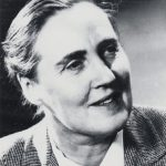 Image description: a black and white head and shoulders image of author Nan Chauncy